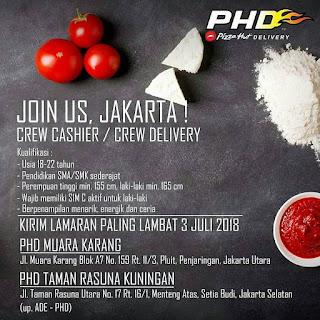 Info Lowongan Kerja Pizza Hut Delivery (PHD) Jakarta Juli 2018