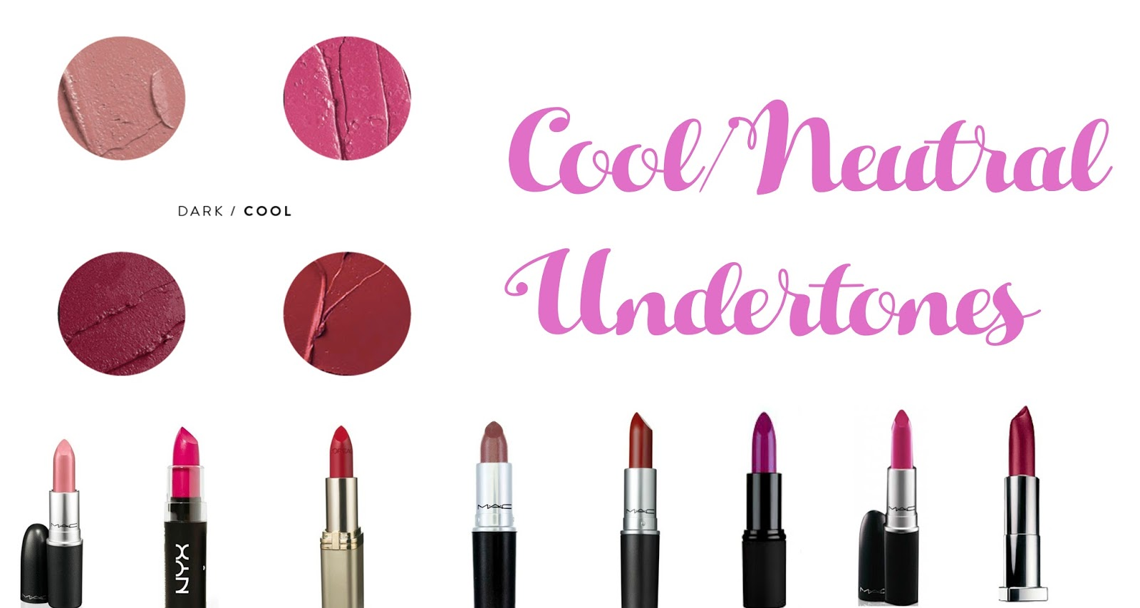 Lipstick colors for cool undertones