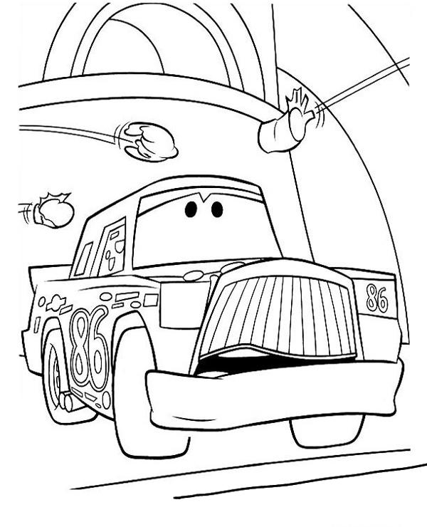 Tranh cho bé tô màu vương quốc xe hơi 2