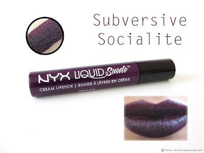 NYX Liquid Suede Cream Lipstick Review Swatches LSCL19 Subversive Socialite