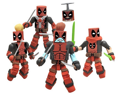 New York Comic-Con 2011 Exclusive Deadpool Corps Marvel Minimates Box Set - Lady Deadpool, Deadpool, Campionpool, Headpool & Kidpool