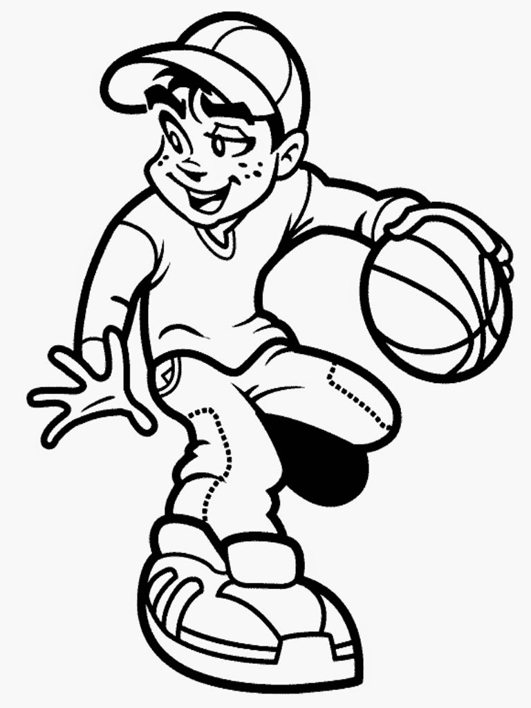 basketball player coloring pages - photo#24