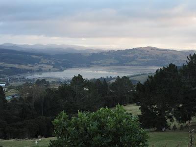 Paisaje desde Waitati hasta Dunedin, en Nueva Zelanda