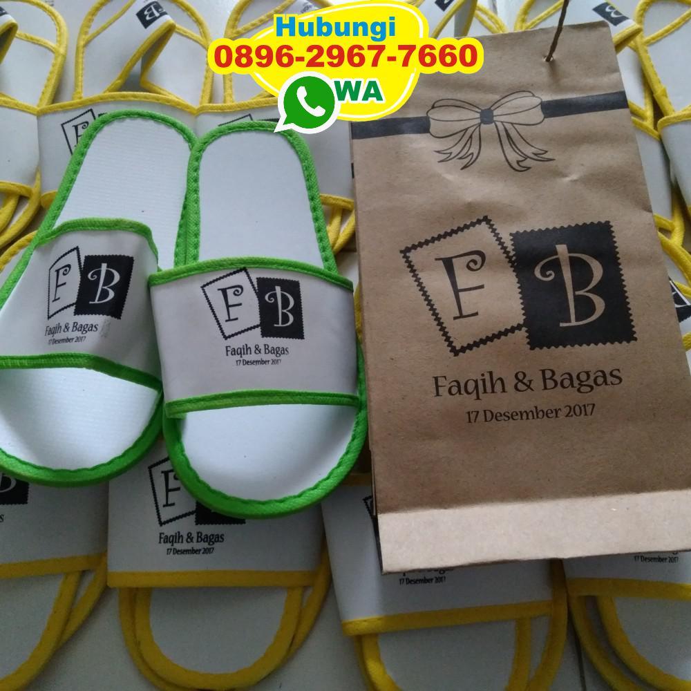Sandal Hotel Kemas Paper Bag   Souvenir Pernikahan