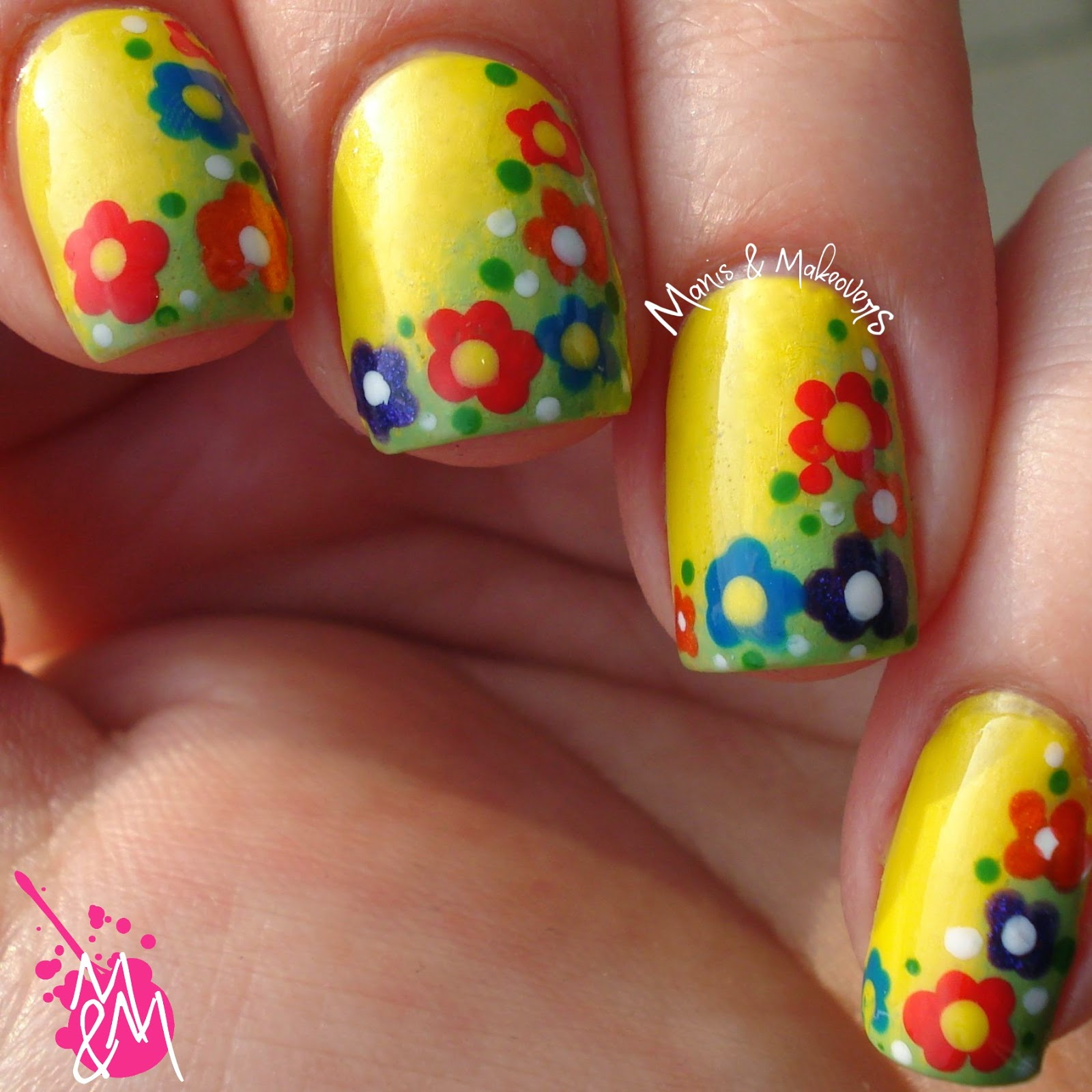 Southern Sparkle Nail Art: Twinsie Thursday: Spring Flowers