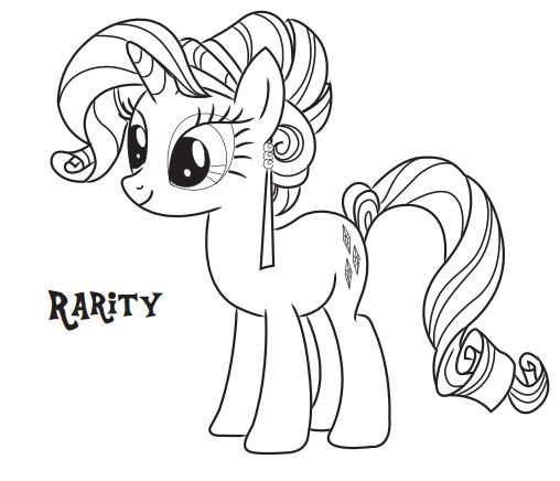 rarity pony coloring page free printable coloring pages for kids