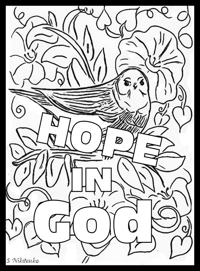hope in god coloring page