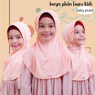 jilbab anak miulan bpl kids baby peach