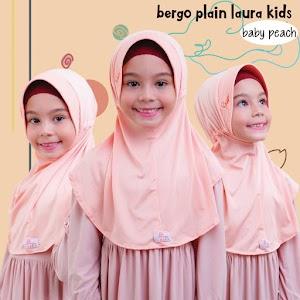 Jilbab Anak Miulan BPL Kids Baby Peach Hijab Cantik Adem & Nyaman
