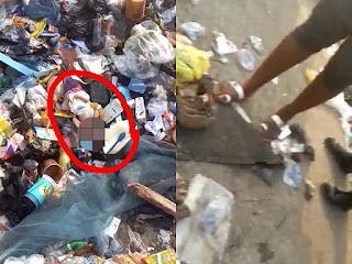 New born baby dumped in waste site