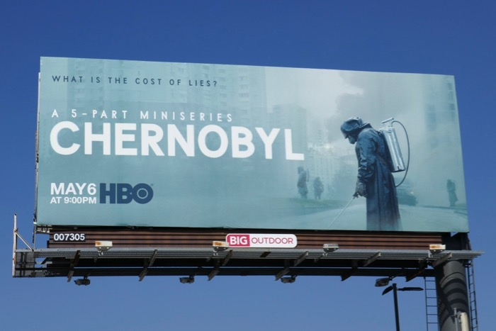 Chernobyl HBO miniseries billboard