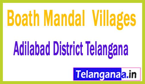 Boath Mandal and Villages in Adilabad District Telangana