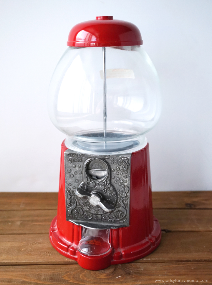 Transform a thrifted Vintage Gumball Machine into a a custom piece of decor! #GoodwillDIY #ShopGoodwill
