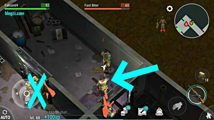 Olabildiğince uzaktan ateş etmeye çalışın, zombilere çok yaklaşmayın.