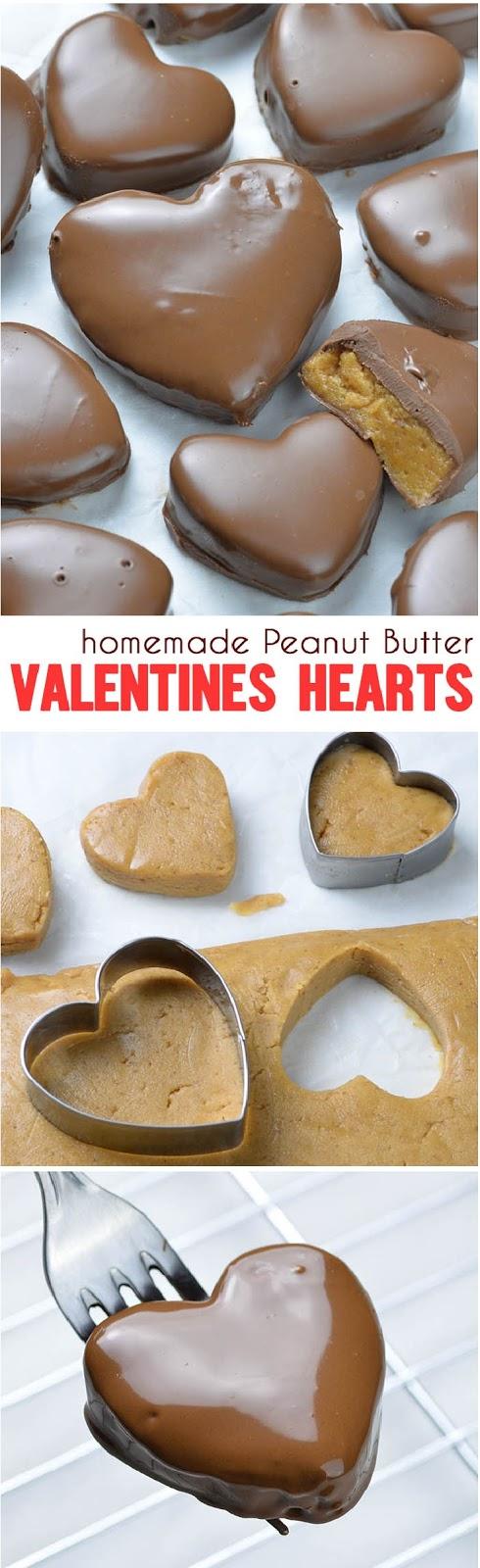 Chocolate Peanut Butter Valentine's Heart