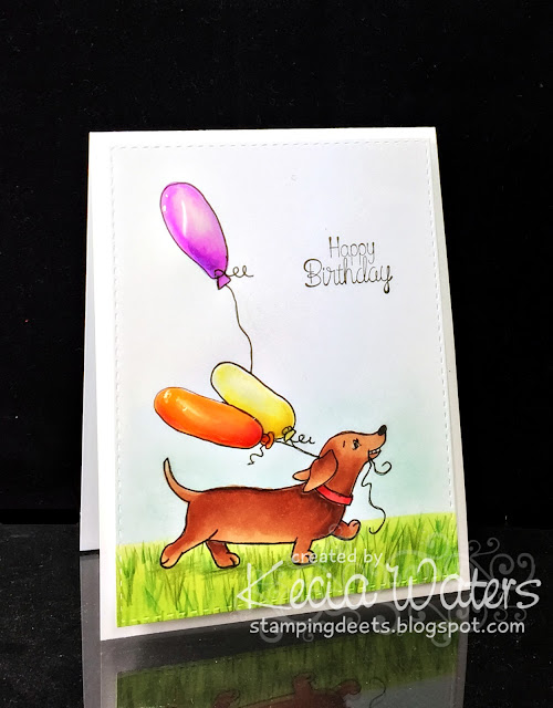 Whimsy Stamps, Kecia Waters, Copic makers, dachshund