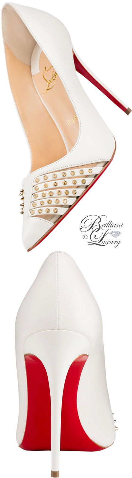 Brilliant Luxury ♦ Christian Louboutin Bareta Kid Rete pump