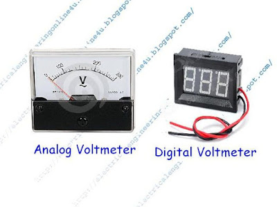 analog and digital voltmeters wiring