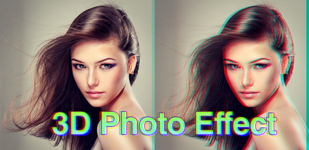 ADOBE PHOTOSHOP TUTORIAL - CREATE 3D MOVIE PHOTO EFFECT IN 2 MINUTES