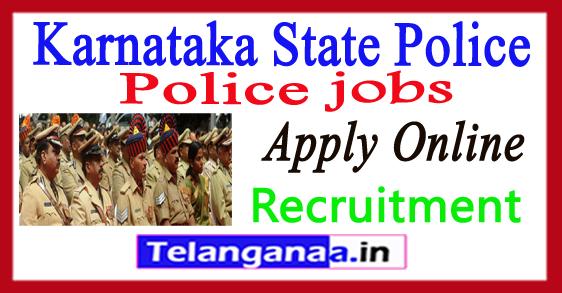 Karnataka State Police KSP Recruitment Notification 2017 Apply
