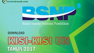 Kisi Kisi Ujian Nasional SMP/MTs Tahun Pelajaran 2016/2017