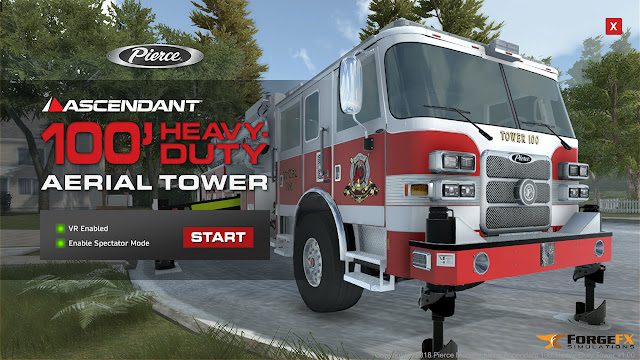 Pierce Manufacturing Ascendant 100' Heavy Duty Aerial Tower Simulator by ForgeFX Simulations