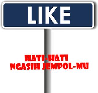 Modus Dibalik Like tombol Facebook dengan status Viral dan menyentuh Hati