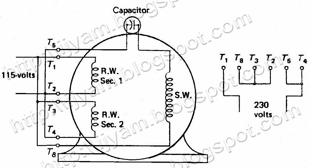 wiring diagram for motor with capacitor  u2013 powerking co