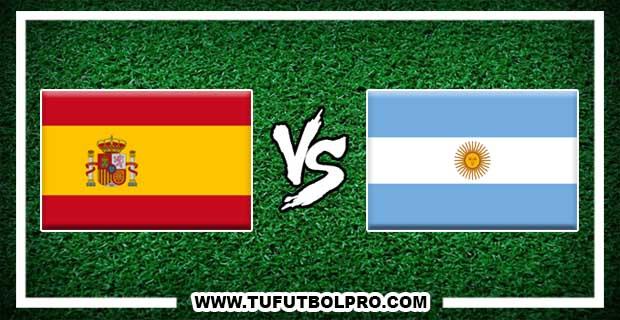 Ver España vs Argentina EN VIVO Por Internet Hoy 27 de Marzo de 2018