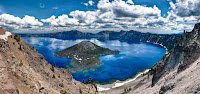 Stanford researchers detail a new method for locating lithium in lake deposits from ancient supervolcanoes, which appear as large holes in the ground that often fill with water to form a lake, such as Crater Lake in Oregon, pictured here. (Image credit: Lindsay Snow / Shutterstock) Click to Enlarge.