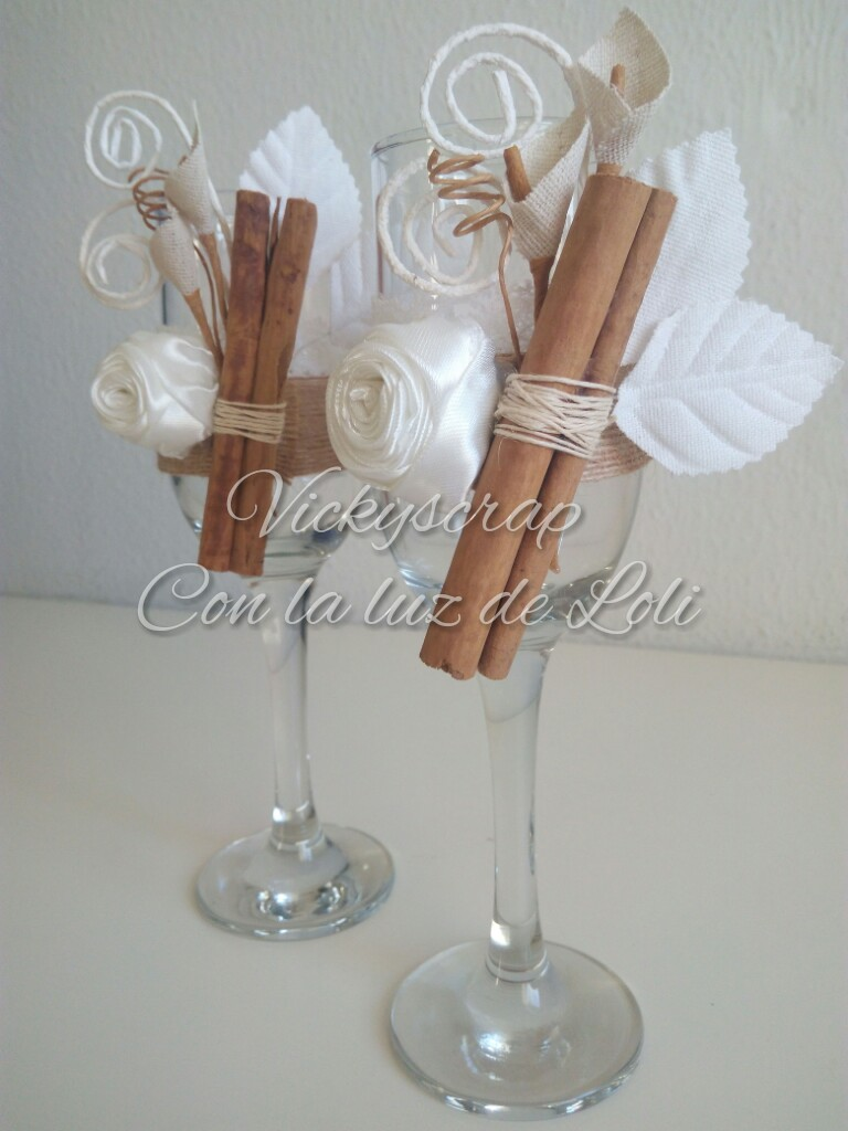 vickyscrap copas decoradas para boda. Black Bedroom Furniture Sets. Home Design Ideas