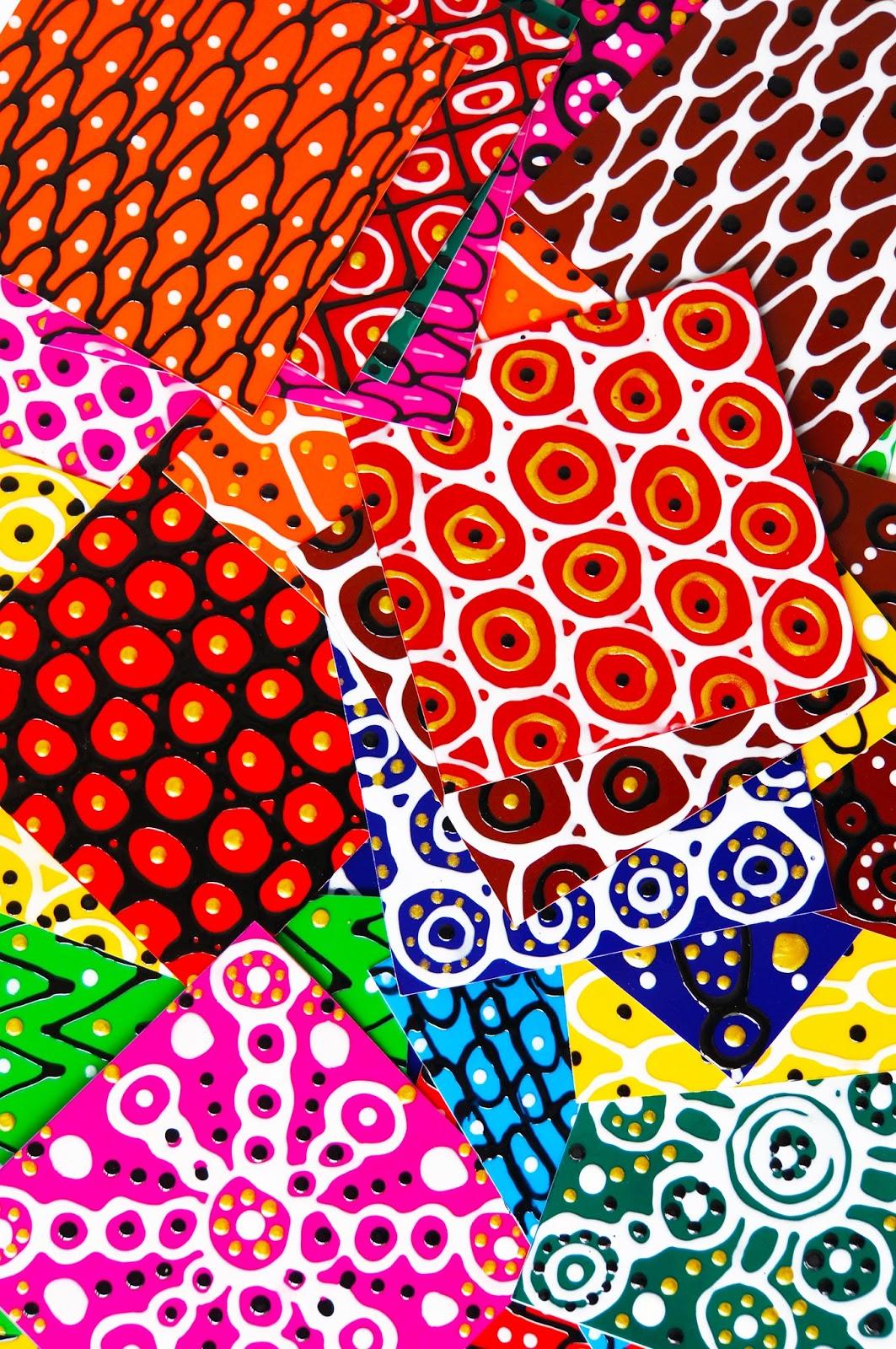 basteln malen Kuchen backen: Fensterfliesen aus Fensterfolie- und Farbe*