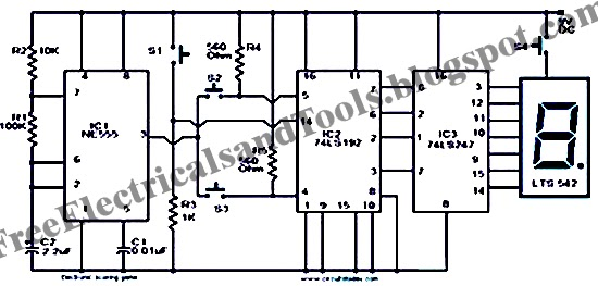 Free Schematic Diagram: Scoring Game Circuit