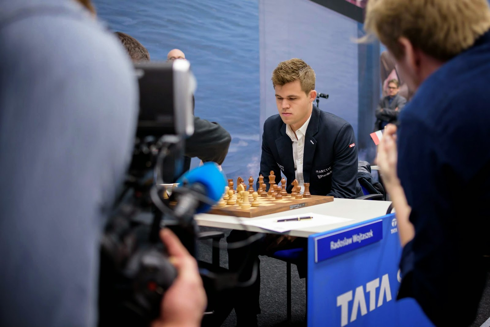 Magnus Carlsen en la tercera ronda del Tata Steel Chess Tournament
