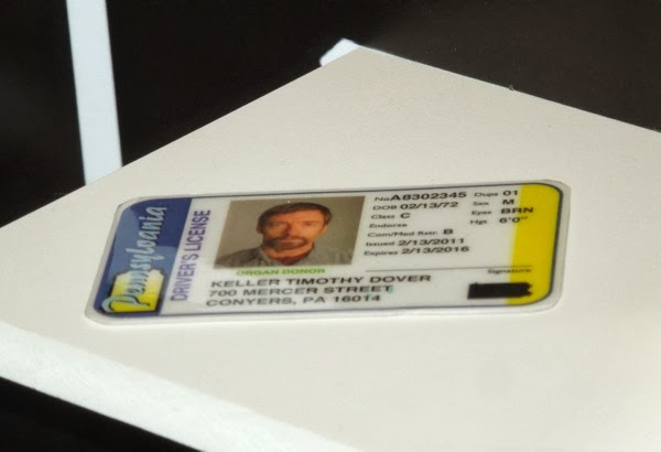 Hugh Jackman Keller Dover Pennsylvania Drivers License Prisoners prop