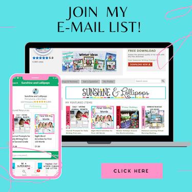 Join My E-Mail List
