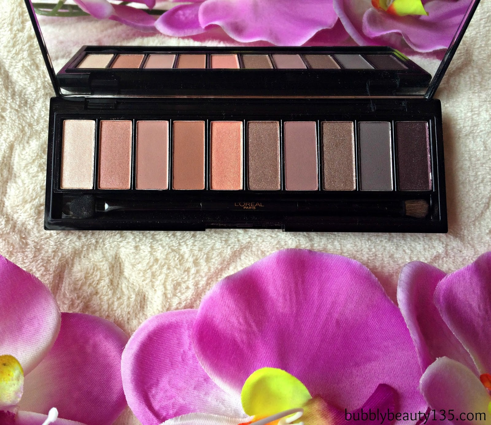 Review | La Palette Nude by L'oreal Paris | www.bubblybeauty135.com