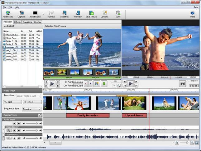 VideoPad Video Editor Pro
