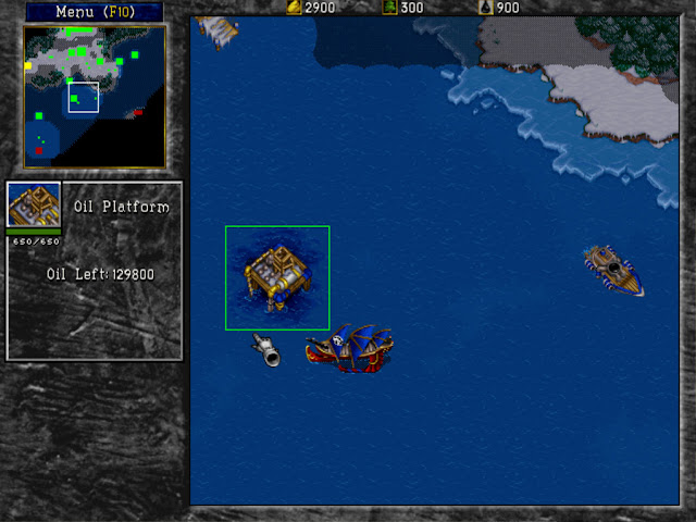 Warcraft 2 Oil Platform Screenshot