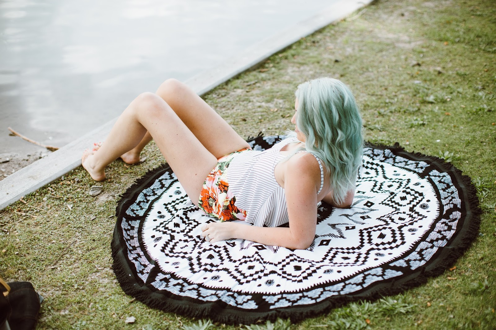 swimzip, Round beach towel, Utah Fashion Blogger
