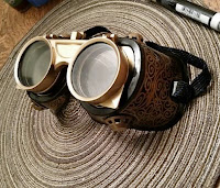 http://www.instructables.com/id/Easy-Steampunk-Goggles/