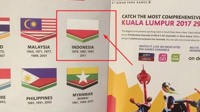 Bendera Indonesia Terbalik di Buku SEA Games Malaysia 2017, Provokasi?