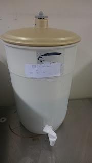 Fermenter at ambient temperature