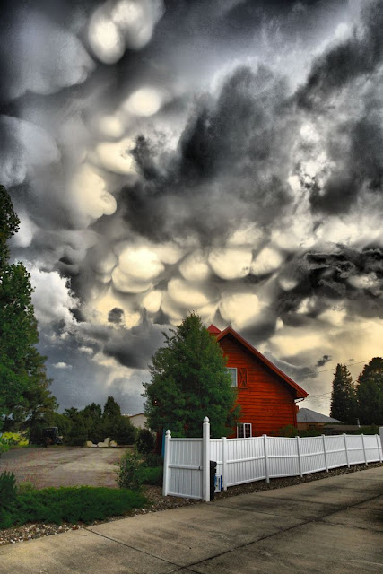 Storm clouds, amazing mammatus