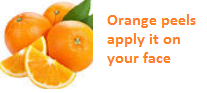 Orange peels apply it on your face