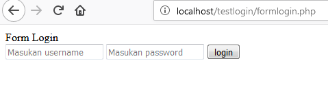 test login