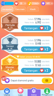 Mode Latihan di Piano Tiles 2