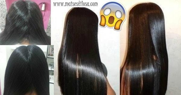 alisamento caseiro para cabelos volumosos