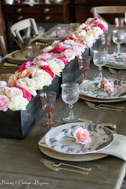 English Garden Rose Table