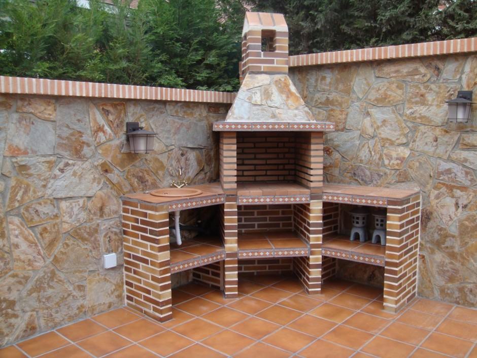 barbacoas modernas de obra construcciones y reformas carmelo hernandez fotos chimeneas barbacoas parrillas rusticas de obra